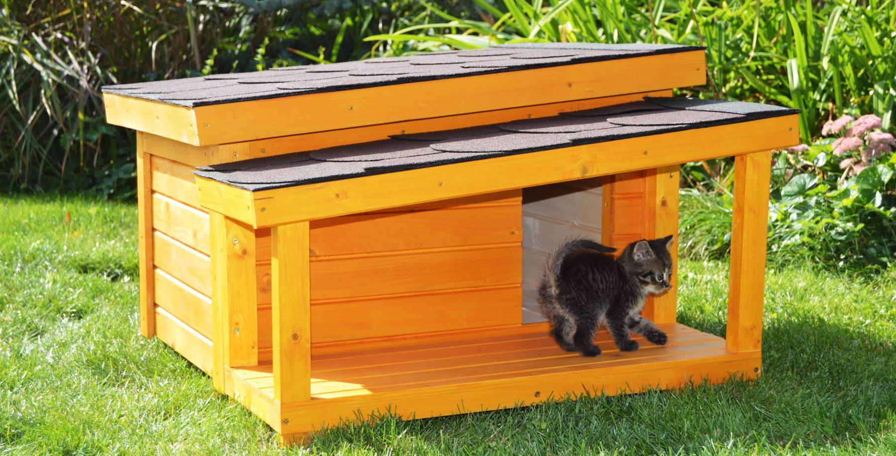 Domček pre mačku DARLING v odtieni borovica