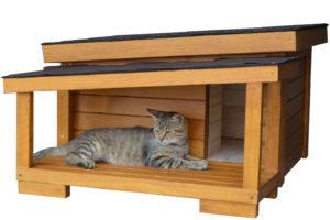 Zateplený mačací domček DALING