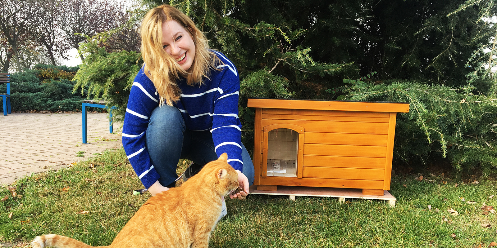Zateplený domček pre mačku ELISA