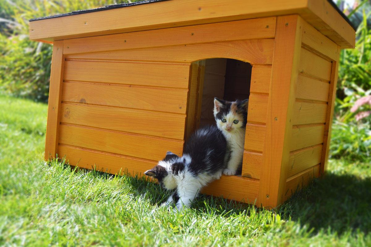 Zateplený mačací domček DAISY