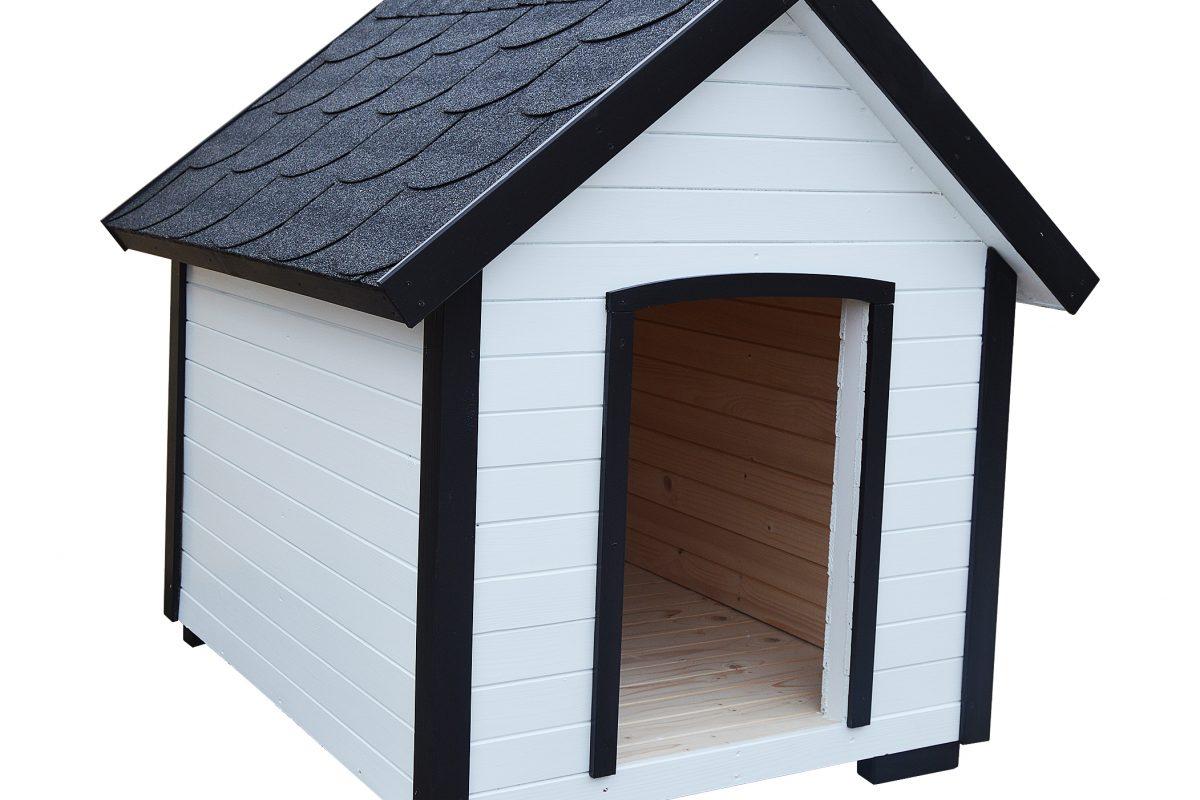 Búda pre psa BENNY s áčkovou strechou.